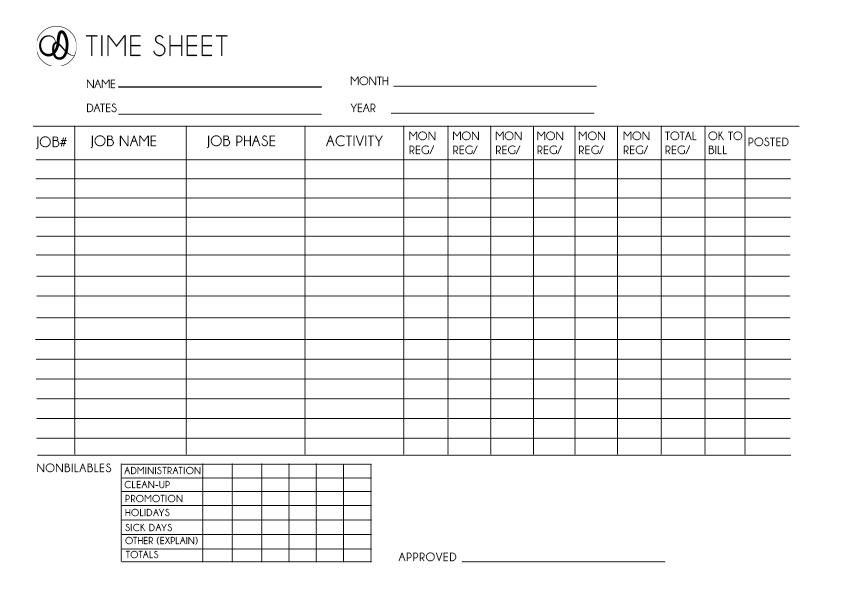 graphic design timesheet  | PLNU Graphic Design: Time Sheet